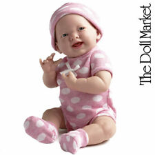 "Berenguer 15"" La Newborn 18512 Pink Polka Dot ""Real Girl"" Baby Doll - New in Box"