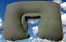 Gonfiabile collo CORNETTO Cuscino cervicale pratico cuscino da viaggio colore: Cachi
