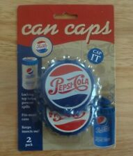 New in Package Pepsi-Cola Can Caps! Pack of 2! 2015 Jokari Works On Most Cans