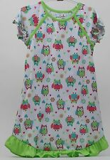 Jumping Beans White with Owls Girls Nightgown & Matching Doll Nightgown Size 6