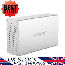 "ORICO 2 Bay USB 3.0 SSD HDD RAID Enclosure Caddy for 3.5"" SATA Hard Disk Drive"