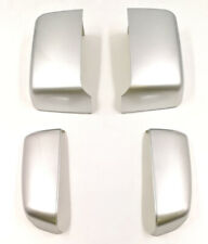 For 14-19 GM Silverado Painted Silver 636R Tow Mirror Caps Cover OE Replacement