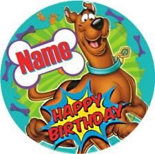SCOOBY DOO CHILDRENS PERSONALISED NAME BIRTHDAY BADGE PARTY BAG