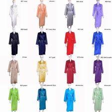 Womens Ladies 19mm 100% Mulberry Silk Long Bath Robes Sleepwear Night Dress