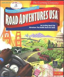 Road Adventures USA (Ages10+) (3 PC-CDs, 1999) for Windows - NEW CDs in SLEEVE