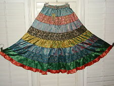 NEW SACRED THREADS PEASANT SKIRT LONG FLOWING MULTI COLORED SIZE SMALL GYPSY