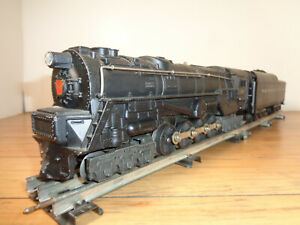 LIONEL O GAUGE # 681 PRR TURBINE LOCO, 2671W WHISTLE TENDER INSERTS AND BOXES