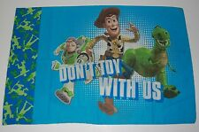 """Disney Toy Story Standard Pillowcase """"Don't Toy With Us"""" Buzz Fabric Crafts"""