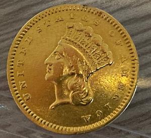 1859 S Gold Dollar $1 - Indian Princess Type 3 - Low Mintage (Key)