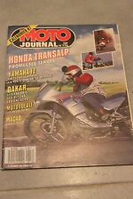 MOTO JOURNAL N°778 PARIS-DAKAR 87 HONDA XL 600 V TRANSALP GRAND PRIX MACAO 1986