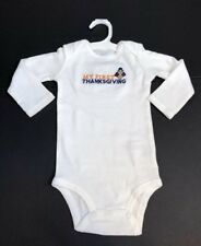 Carters Just One You My First Thanksgiving One Piece Size 12 Months NWOT