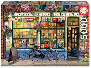 Educa 18583 - Greatest bookshop in the world - 5000 pieces - Genuine Puzzle