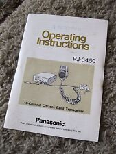 Vintage RJ-3450 Panasonic Operating instructions