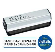 Super Exstatic Vinyl Record Cleaner Carbon Fibre & Velvet Pad Cleaning Brush