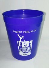 ROBERT EARL KEEN THE ROSE HOTEL BLUE PLASTIC PROMO CUP GLASS STOCKING STUFFER