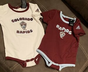 Colorado Rapids 2pc Adidas Baby Girl Short Sleeve Snap Bottom Size 12 Months