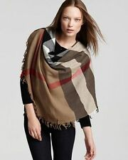 BURBERRY HOUSE CHECK SQUARE WOOL SCARF 110x110 CAMEL
