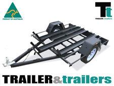 6x4 BIKE TRAILER - HEAVY DUTY 3 BAY BIKE TRAILER - NEW WHEELS & TYRES – RAMP