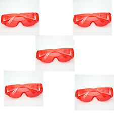 5 PCS R4ed Protective Goggle Glasses for Dental Curing Light