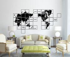 Huge World Map Wall Sticker Home Decor Decal UK SH263