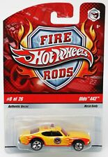 Hot Wheels Olds 442 Fire Rods Series #N9026 New NRFP 2008 Yellow 1:64