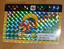 MARIO BROS BANPRESTO CARDDASS CARD PRISM CARTE 4 NITENDO MADE IN JAPAN 1991 **