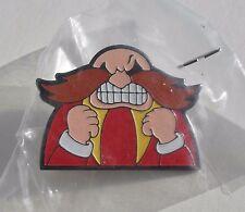 Sega SONIC the Hedgehog Professor DR ROBOTNIK'S 1991/2 Rare METAL PIN BADGE Pins