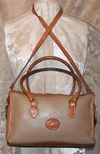 Dooney & Bourke All Leather Vintage Exc Cond. Large Satchel Taupe/British Tan