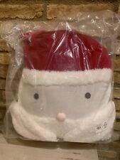 New Pottery Barn Kids Sherpa Santa Pillow Christmas Holiday