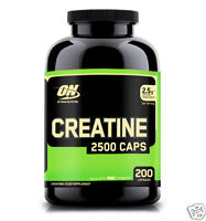Optimum Nutrition Creatine 2,500mg Build Muscle (200 Capsules) (Best by 03/2019)