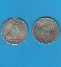 USA Philippines One peso 1904 San-Fransisco Mint Avec 2 Contremarques Chinoises
