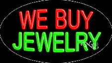 """New """"We Buy Jewelry"""" 30x17 Oval Solid/Flash Neon Sign w/Custom Options 14229"""