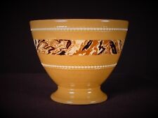 VERY RARE c1800 AGATE DECORATED SUGAR BOWL MOCHA MOCHAWARE YELLOW WARE