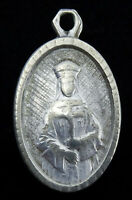 Vintage Medal Pendant Our Lady of Pontmain with St Saint Christopher