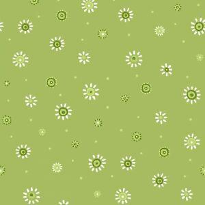 THE WORLD OF SUSYBEE BASICS GREEN SMALL FLOWER 100% COTTON SB20104-835