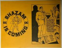 CAPTAIN MARVEL vintage 1972 one-page promotional flyer from DC Comics: SHAZAM!