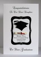 Graduation Card + Matching Box and Personalised Son/Daughter/Niece etc Handmade