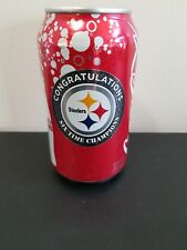 Pittsburgh Steelers Super Bowl Coca Cola Can Congratulations 6 Time Champions