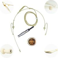 NEW DETACHABLE DUAL DOUBLE LEFT RIGHT EAR HOOK MICROPHONE for TRANTEC LEMO 4 PIN