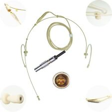 NEW DETACHABLE DUAL DOUBLE LEFT RIGHT EAR HOOK MICROPHONE for TRANTEC LEMO 4 PIN