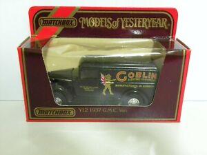 Models Of Yesteryear Matchbox Y12 1937 G.M.C Van Goblin Electric