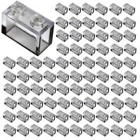 ☀️New! Lego Lot of 100x TRANS CLEAR 1x2 Bricks Parts Pieces Legos Part #3065