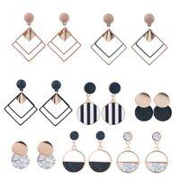 Boho New Women Geometric Circle Statement Drop Dangle Earrings Wedding Jewelry