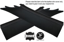 Grey stitch 2X a post pillar leather covers fits chevrolet camaro 2010-2015