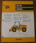 JCB 520 Loadall Spec Sheet Brochure Literature