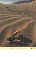 Publicite ADVERTISING 1982 ray ban sunglasses by death valley