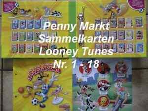 1 SAMMELKARTE (Nr.1-18) Ihrer Wahl von Looney Tunes Active! / Penny Markt