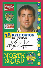 KYLE ORTON 2005 SENIOR BOWL PURDUE BOILERMAKERS ROOKIE CHICAGO BEARS BRONCOS