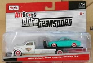 Maisto All Stars Elite Transport - Maisto Flatbed /1966 Volkswagen Karmann Ghia
