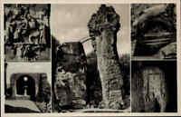 ~1930 Teutoburger Wald Externsteine, Mehrbild-AK 5 Ansichten Echtfoto-Postkarte